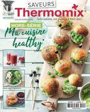 Couverture du magazine Saveurs Thermomix HS n°3 - cuisine healthy 2019