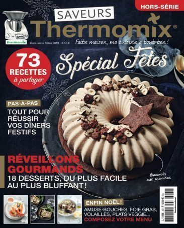 Couverture du magazine Saveurs Thermomix HS n°4 - spécial fêtes 2019