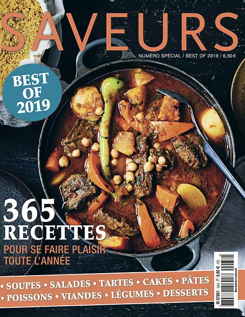 Couverture du magazine Saveurs Best Of 2019