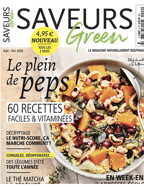 Couverture du magazine Saveurs Green n°2
