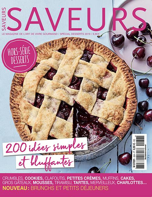 Couverture du magazine Saveurs HS n°36 spécial desserts 2019