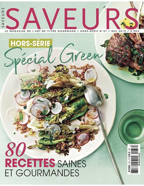 Couverture du magazine Saveurs HS n°37 spécial Green 2019