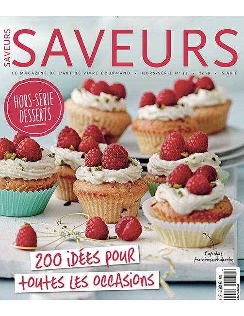 Couverture du magazine Saveurs HS n°32 - spécial desserts 2018
