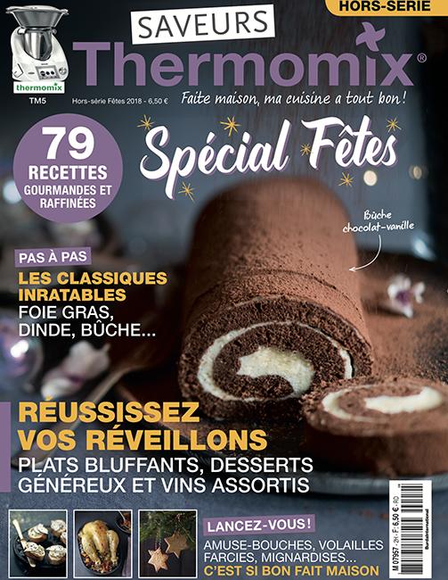 Couverture du magazine Saveurs Thermomix HS n°2 - spécial fêtes 2018