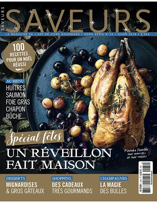 Couverture du magazine Saveurs HS n°34 spécial fêtes 2018