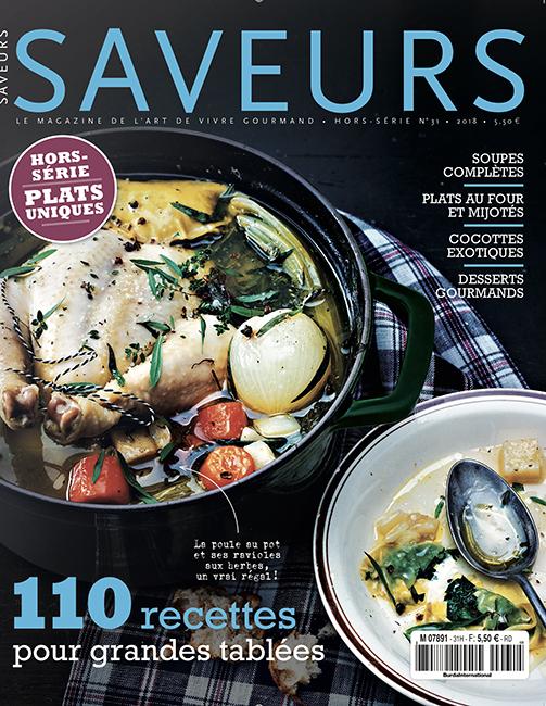Couverture du magazine Saveurs HS n°31 - plats uniques 2018