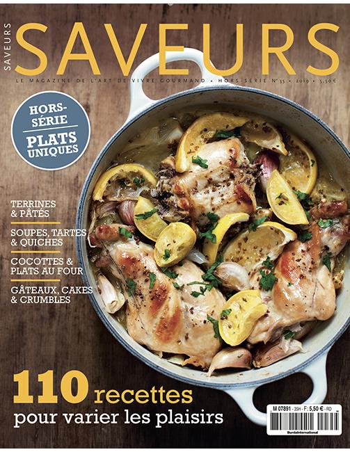 Couverture du magazine Saveurs HS plats uniques 2019