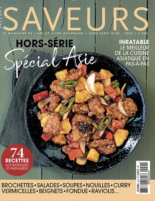 Couverture du magazine Saveurs HS n°40 - spécial Asie
