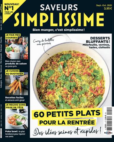 Couverture du magazine Saveurs Simplissime n°1