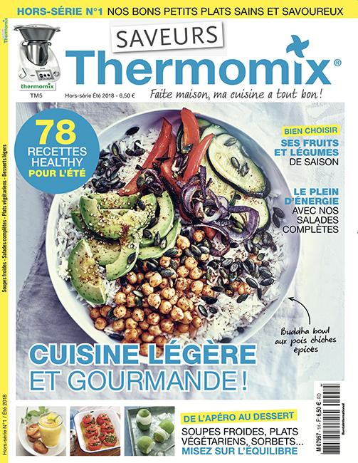 Couverture du magazine Saveurs Thermomix HS n°1 - Été 2018