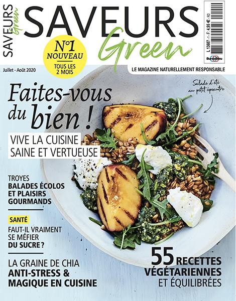 Couverture du magazine Saveurs Green n°1