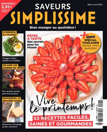Couverture du magazine Saveurs Simplissime n°4