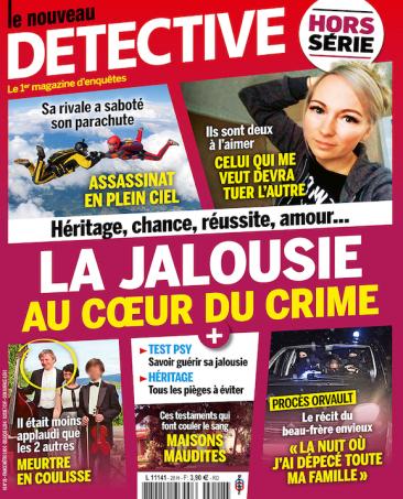 Couverture du magazine La jalousie au coeur du crime