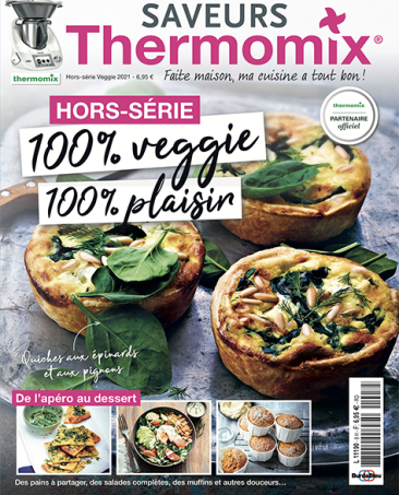 Couverture du magazine Saveurs Thermomix HS n°8 - 100% veggie