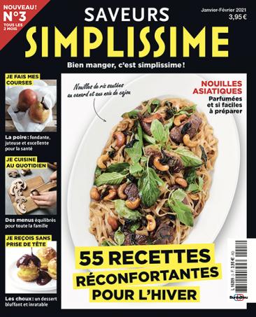 Couverture du magazine Saveurs Simplissime n°3