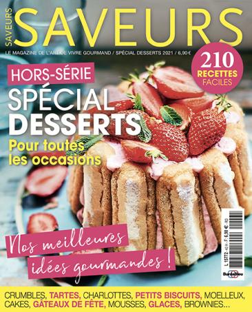 Couverture du magazine Saveurs HS spécial desserts 2020