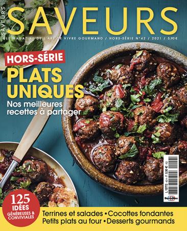 Couverture du magazine Saveurs HS plats uniques 2020
