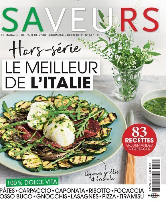 Couverture du magazine Saveurs HS spécial Italie