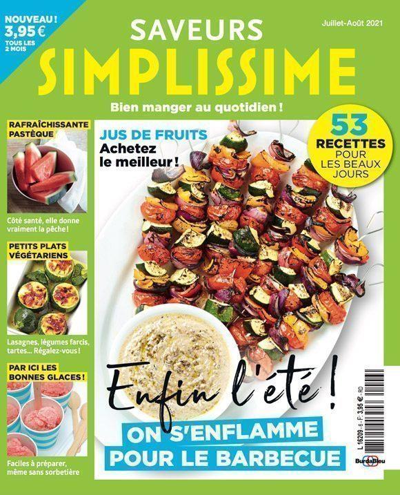 Couverture du magazine Saveurs Simplissime n°6