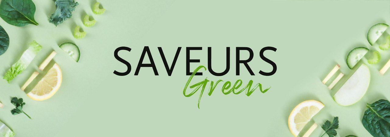 Image de fond dans le theme de la marque Saveurs Green