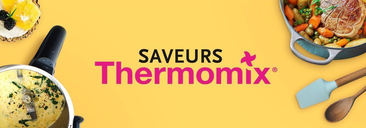 Image de fond dans le theme de la marque Saveurs Thermomix