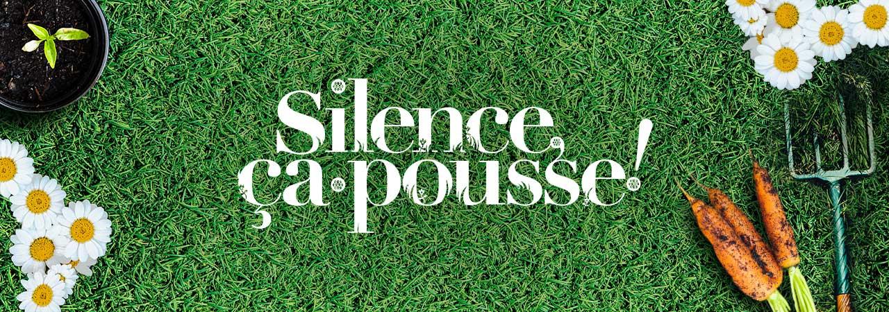 Image de fond dans le theme de la marque Silence ça pousse !