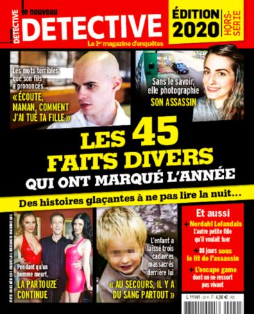 Couverture du magazine Edition 2020 - Les 45 faits divers qui ont fait l'année