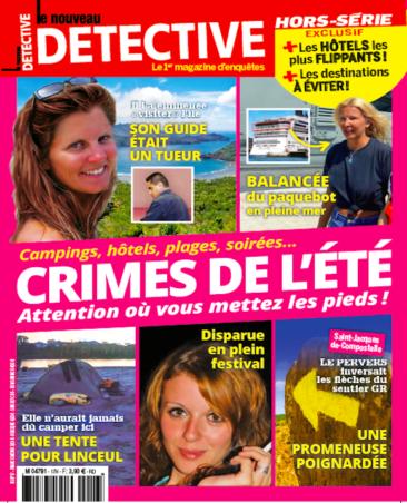Couverture du magazine Crimes de l'été : Attention où vous mettez les pieds !