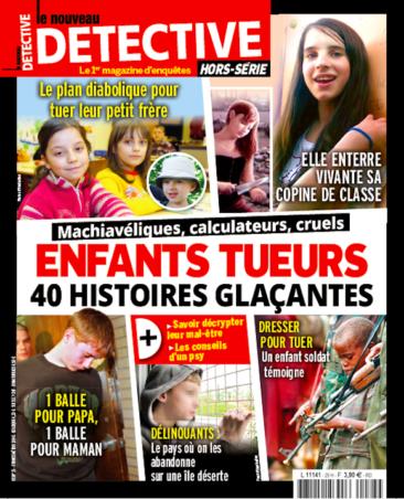 Couverture du magazine Enfants tueurs : 40 histoires glaçantes