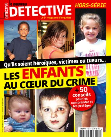 Couverture du magazine Les enfants au coeur du crime