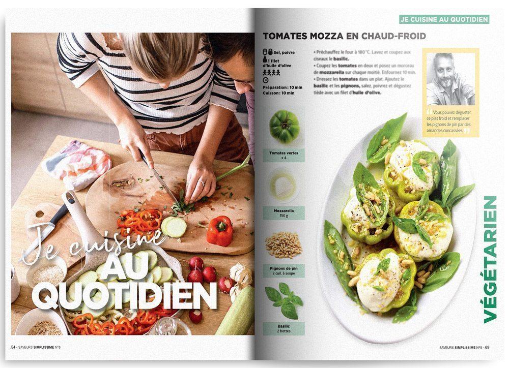 Image de la rubrique Je cuisine au quotidien