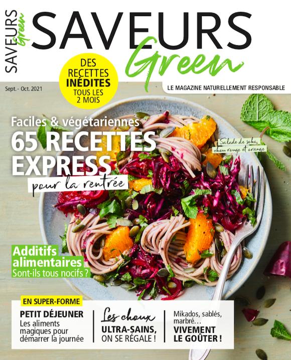 Couverture du magazine Saveurs Green n°8