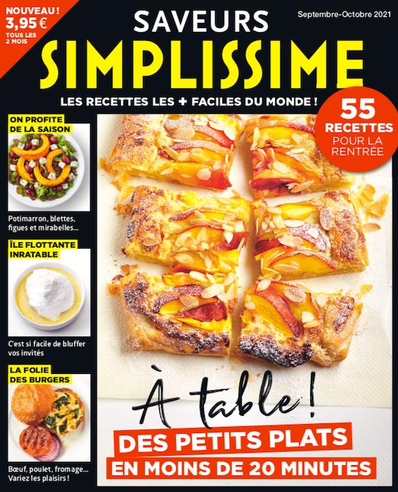 Couverture du magazine Saveurs Simplissime n°7