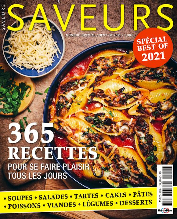 Couverture du magazine Saveurs Best Of 2021