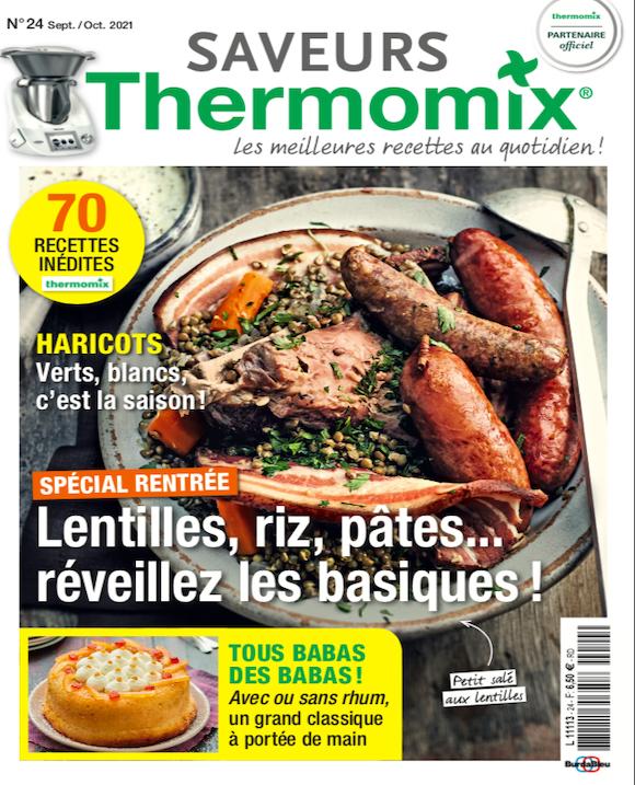 Couverture du magazine Saveurs Thermomix n°24