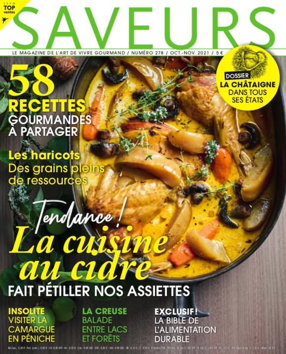 Couverture du magazine Saveurs n°278